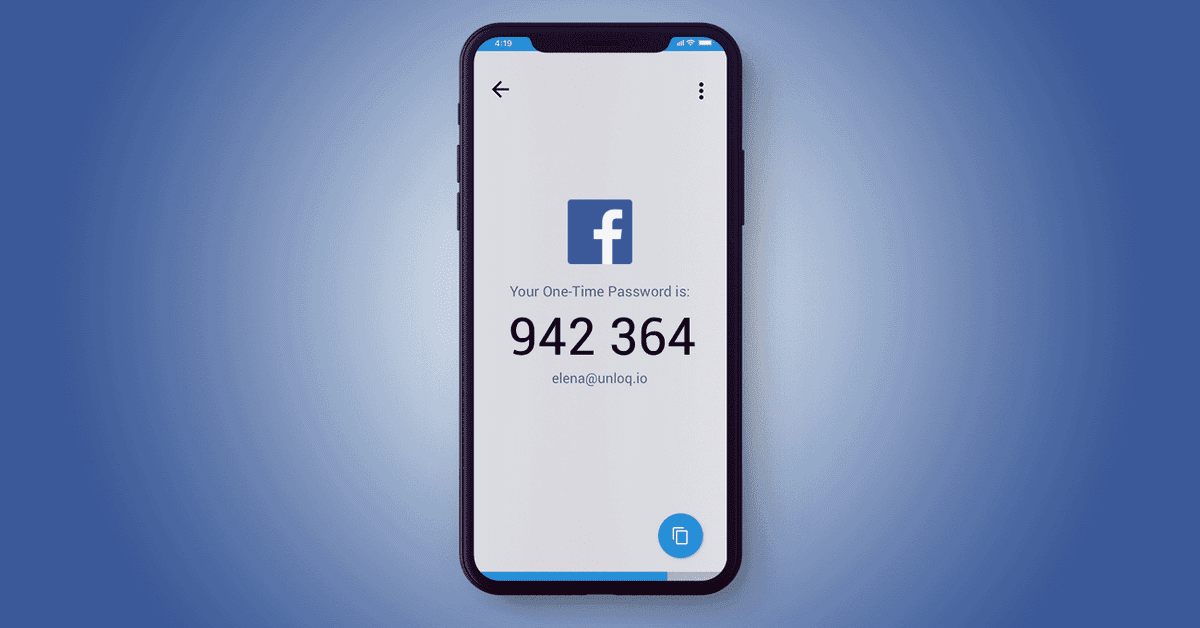 What's a one-time password on Facebook and how do I get one?