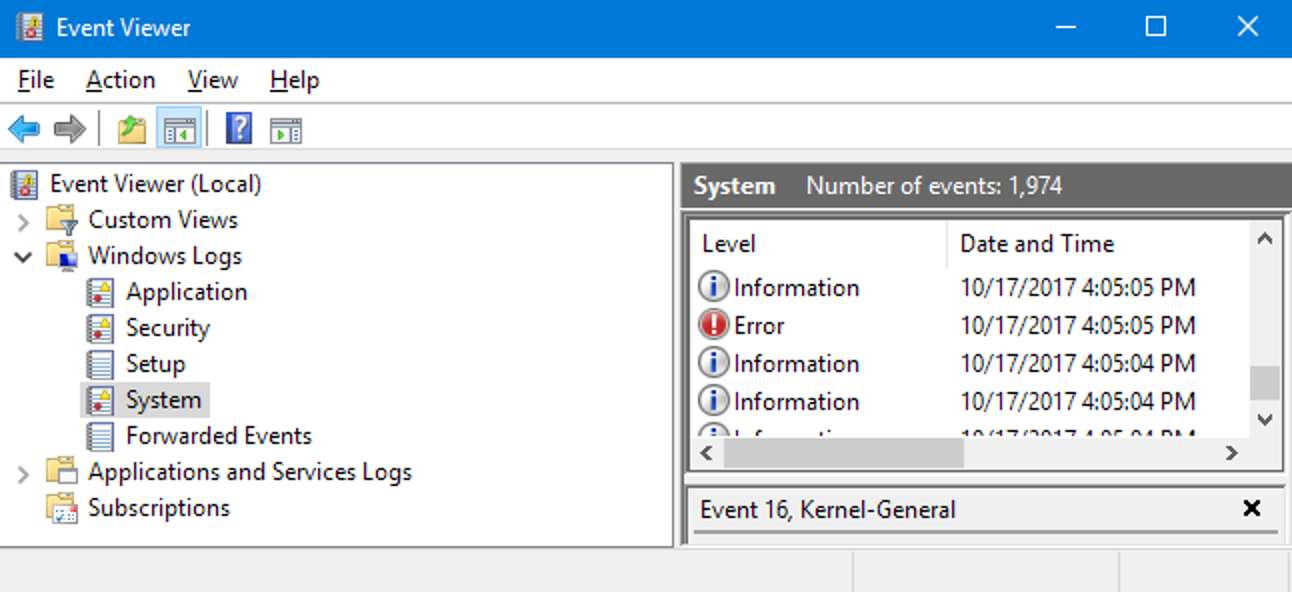 How To Use Event Viewer In Windows